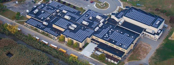 Pictured above: Secaucus High School-Middle School rooftop solar installation
